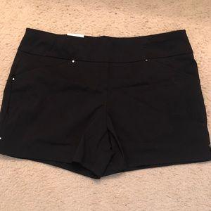 INC black dressy shorts